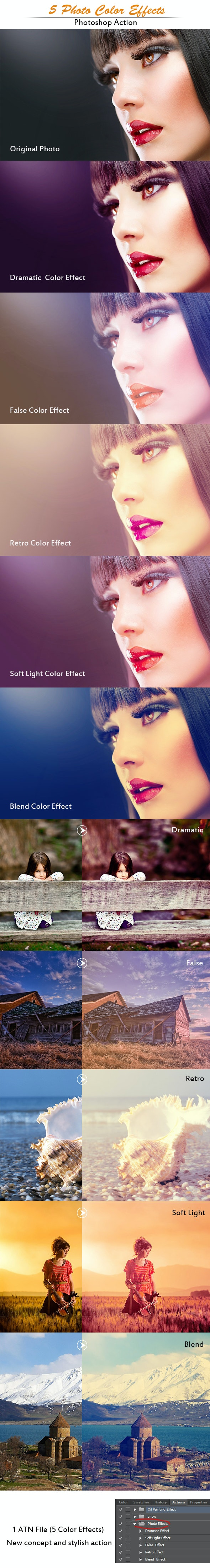 Photo Color Effects  - Photoshop Add-ons