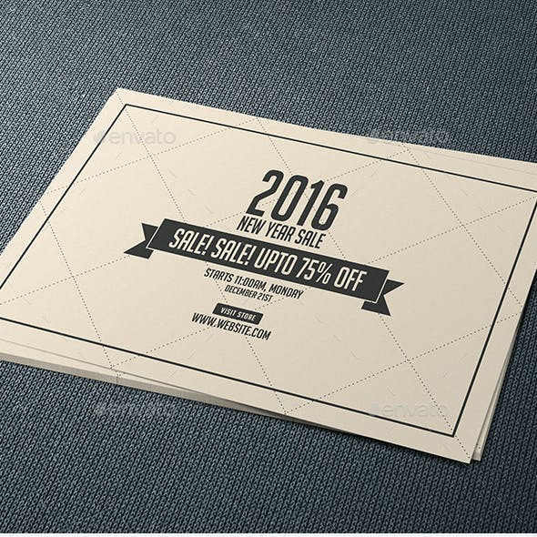 New Year Sale Postcard
