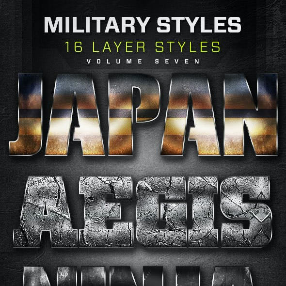 16 Military Layer Styles Volume 7