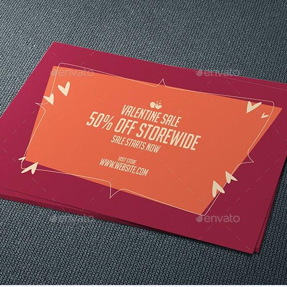 Valentine Sale Postcard