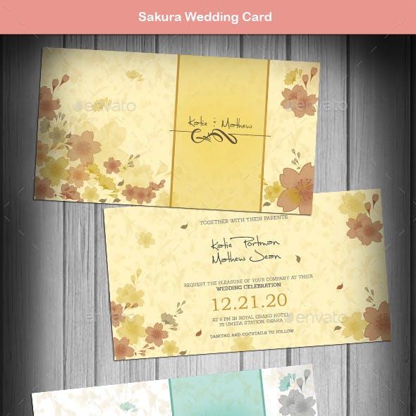Sakura Wedding Card