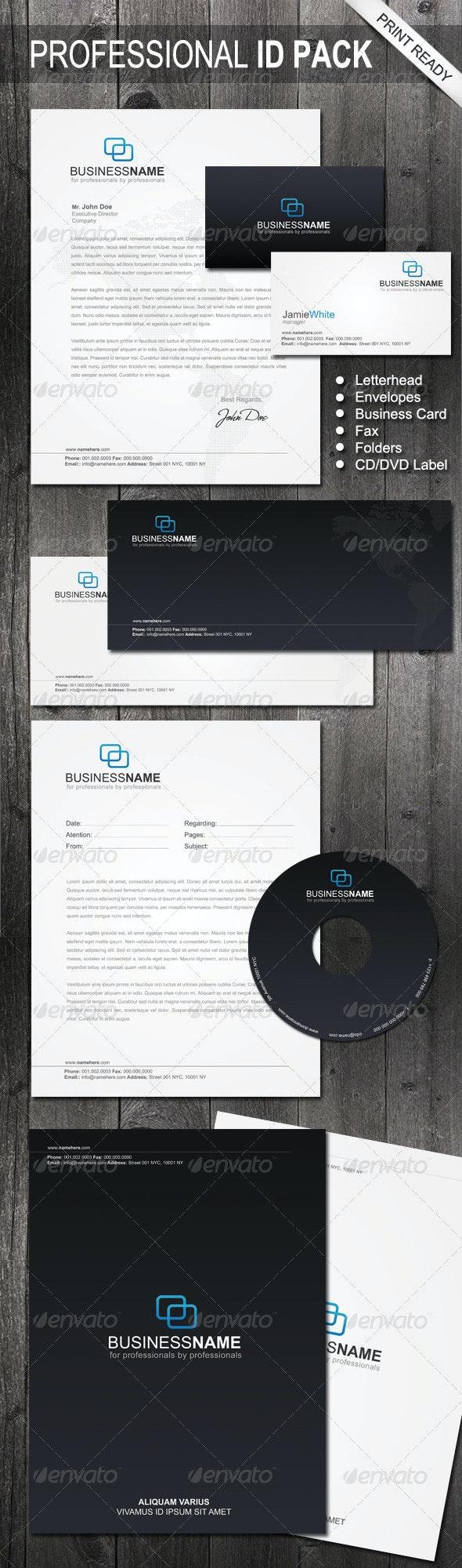 Professional Identity 04 - Stationery Print Templates