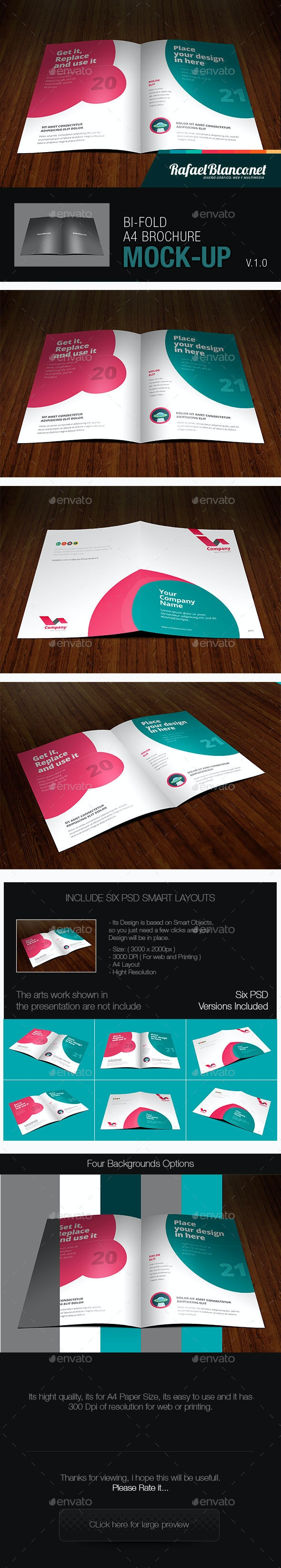 Bifold A4 Mockup - Brochures Print