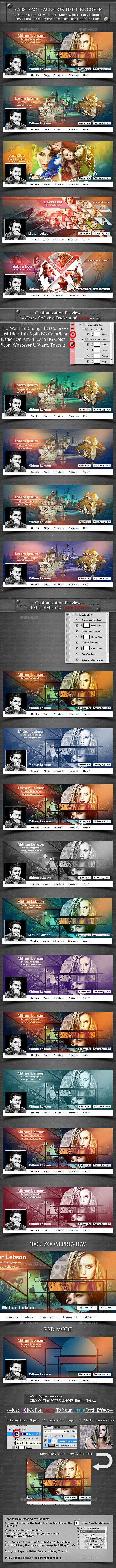 5 Abstract Facebook Timeline Cover - Facebook Timeline Covers Social Media