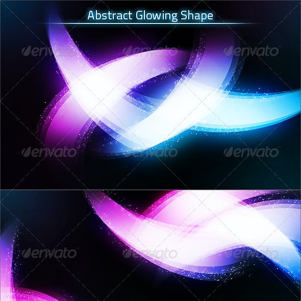 Abstract Glowing Shape Background