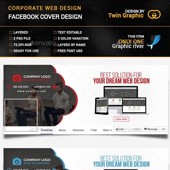 Corporate web design cover photo design.