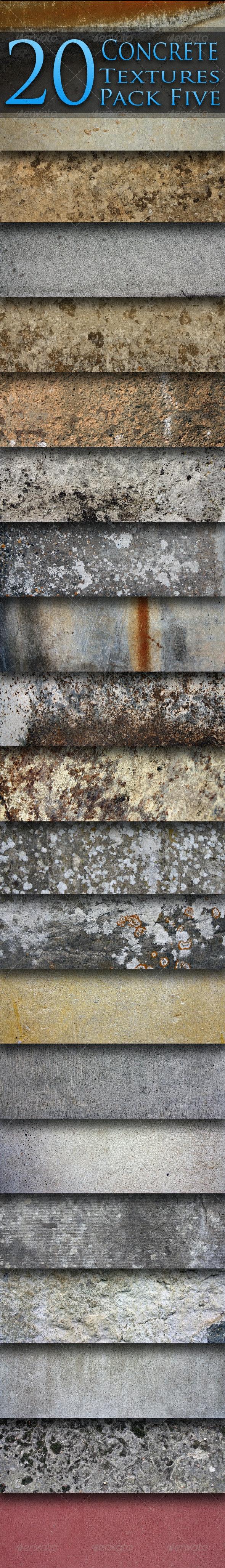 20 Concrete Textures - Pack Five - Concrete Textures