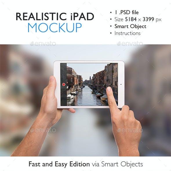 Realistic iPad Mini Mockup