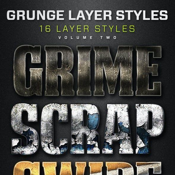 16 Grunge Layer Styles Volume 2