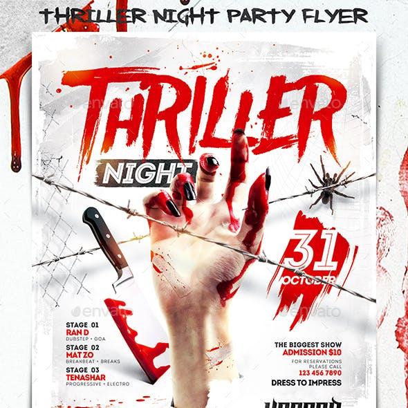 Thriller Night Party Flyer