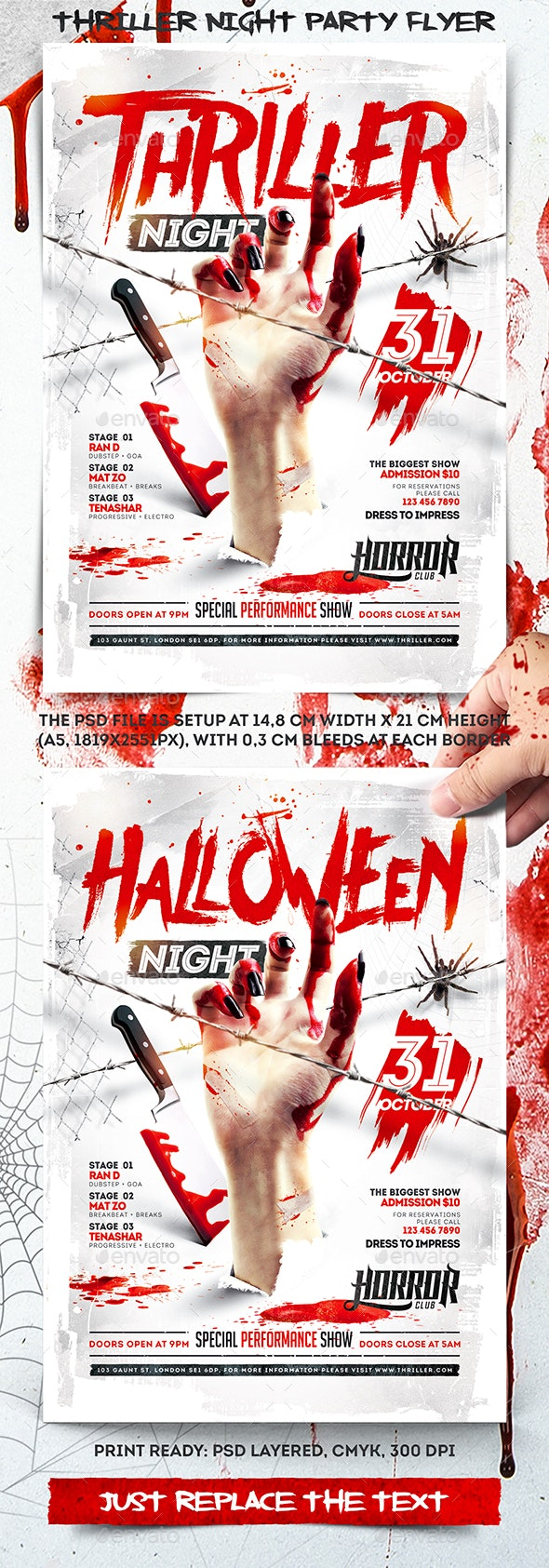 Thriller Night Party Flyer - Events Flyers
