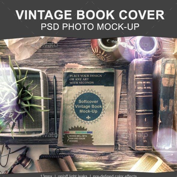 Vintage Soft Cover Book Mock-up