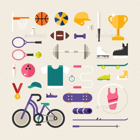 Set Of Vector Icons And Illustrations In Flat