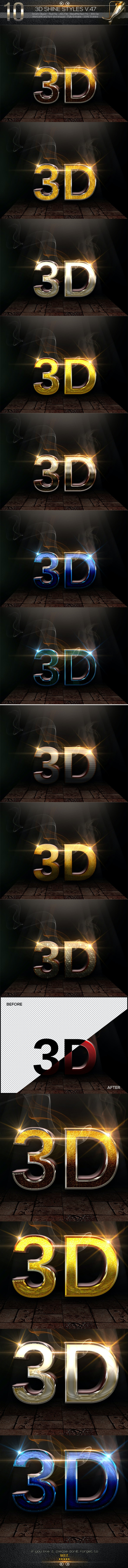 10 3D Text Styles V.47DES - Text Effects Styles