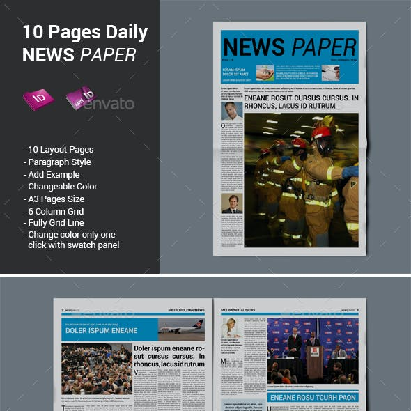 10 Pages Daily Newspaper