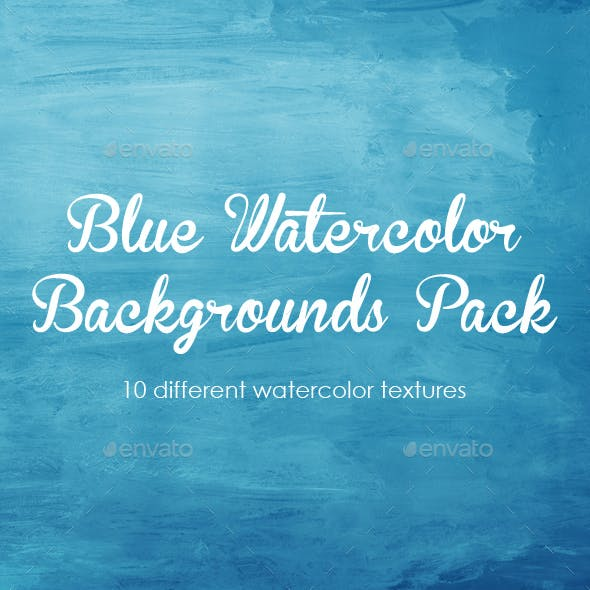 Blue Watercolor Background Pack