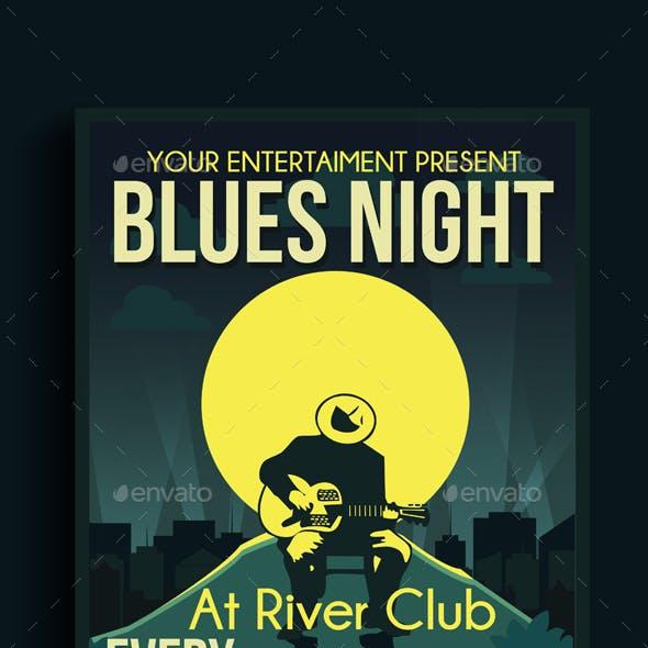 Blues Night Flyer