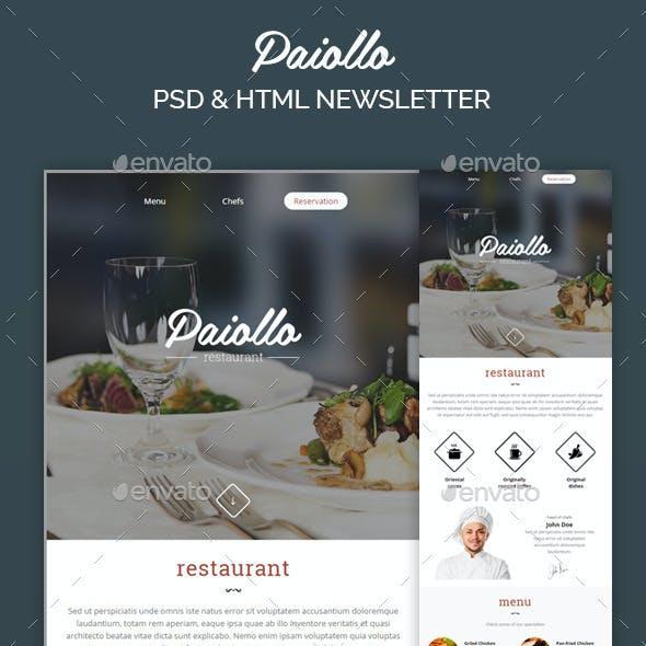 Paiollo Restaurant - Responsive Email + StampReady Builder