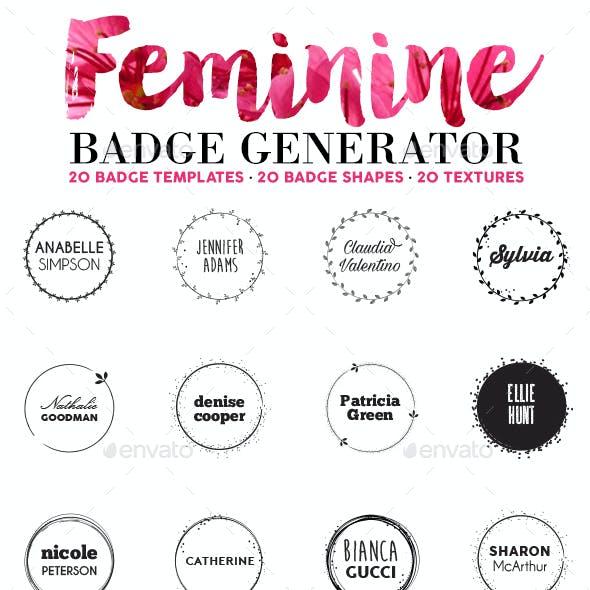 Feminine Badge Generator