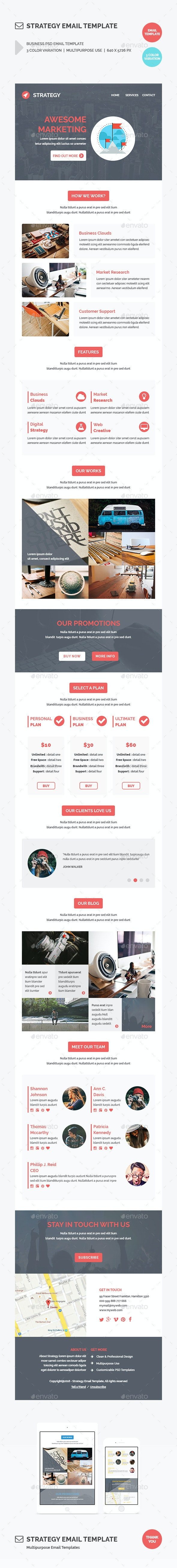 Strategy Email Template - E-newsletters Web Elements