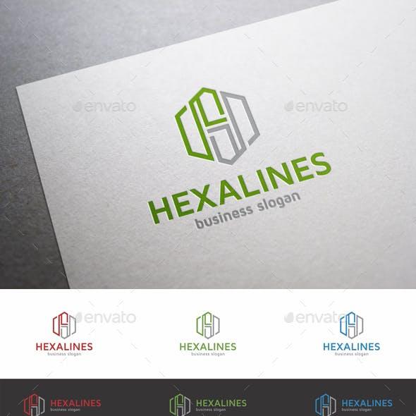 H Letter Logo Hexagon