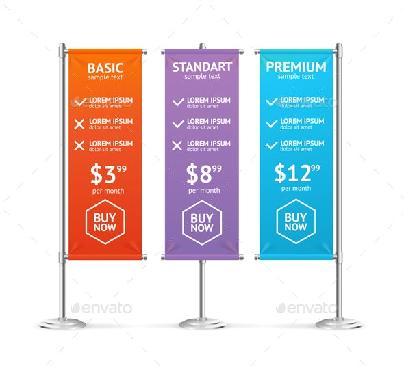 Pricing List. Vector - Business Conceptual