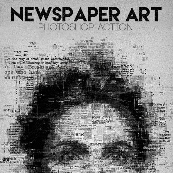 Newspaper Art Photoshop Action