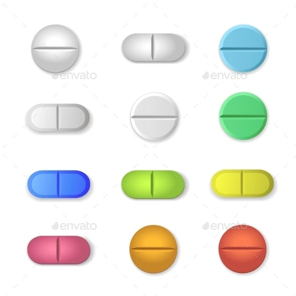 Tablets and Colored Pills