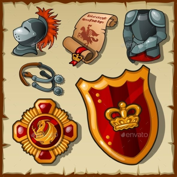 Knight Set of Uniforms and Symbols