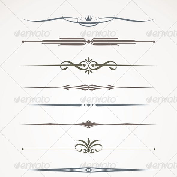 Vector Set - Page Decor And Text Dividers