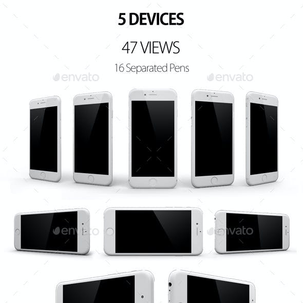 5 Devices 47 Views Mock Up