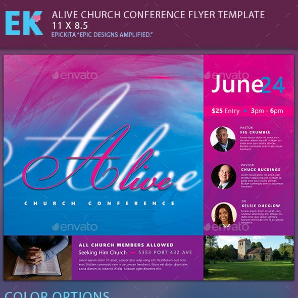 Alive Church Conference Flyer Template