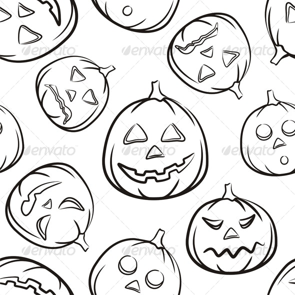 Halloween Seamless Black Background - Backgrounds Decorative