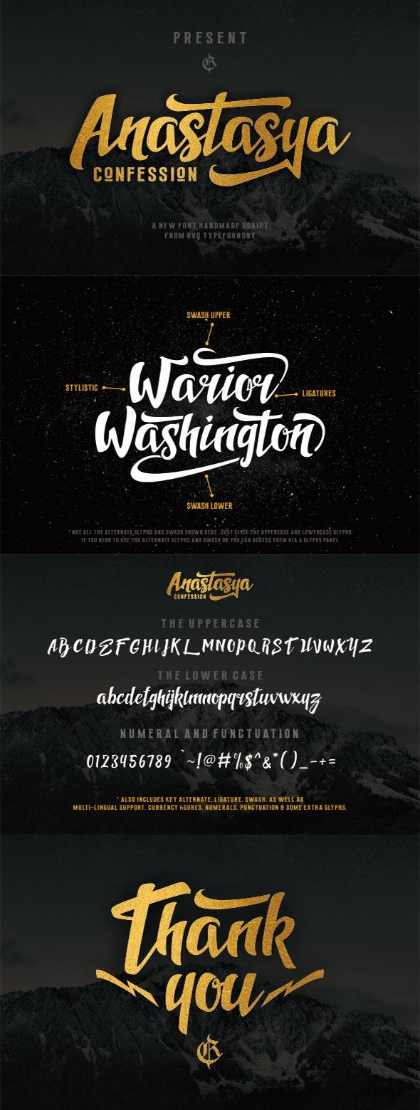 Anastasya confession - Serif Fonts