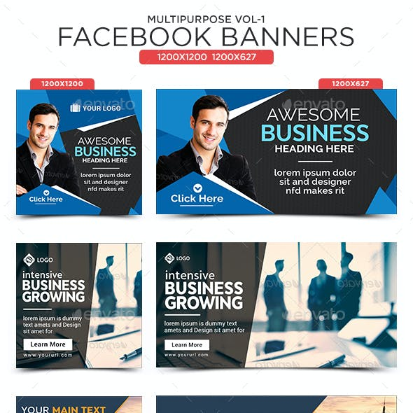 Multipurpose Facebook Banners - 10 Banners