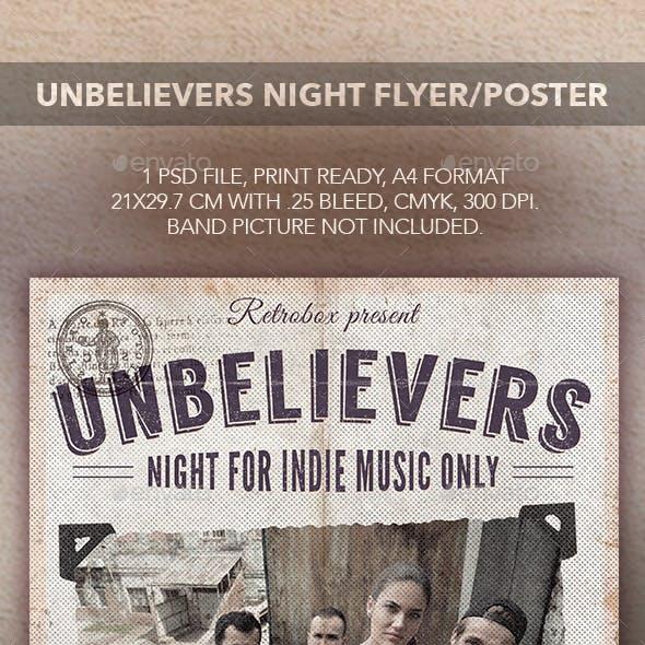 Unbelievers Night Flyer Poster