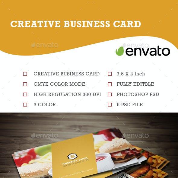 Simple Restaurant Business Card