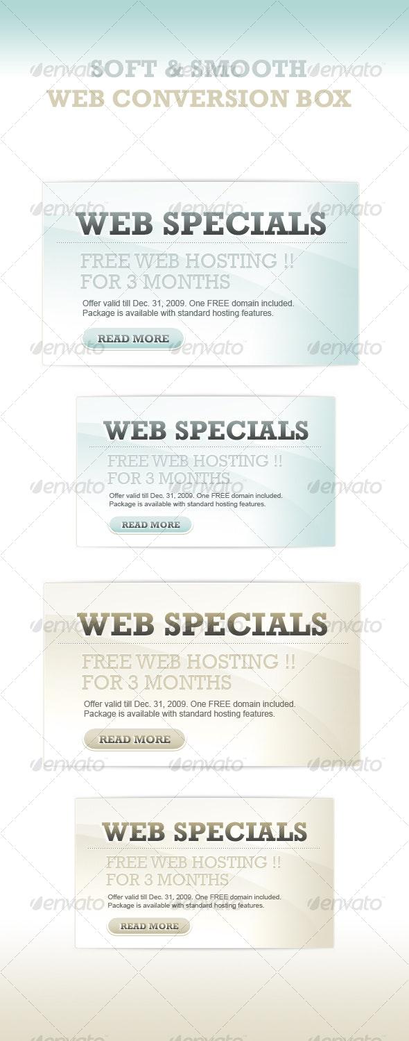 soft & corporate web 2.0 boxes - 2 color/size - Web Elements
