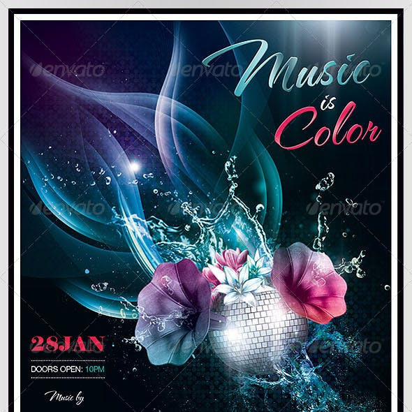 Music Is Color Poster/Flyer