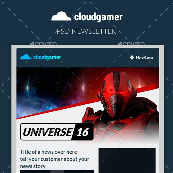 Cloudgamer - Responsive Email + StampReady Builder
