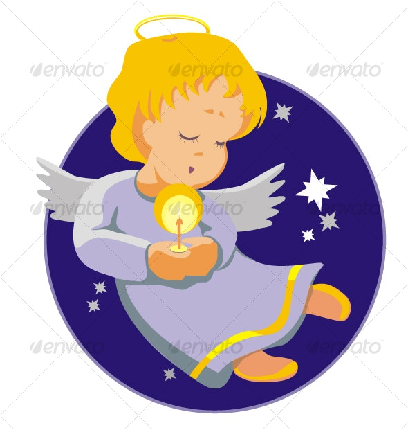 Angel with candle - Seasons/Holidays Conceptual