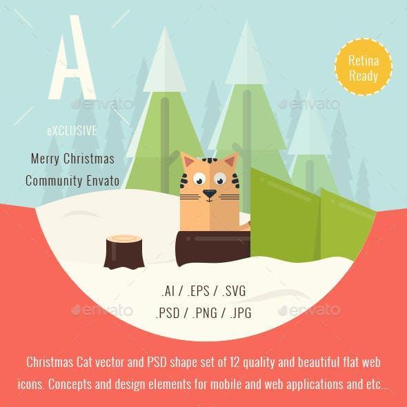 Christmas Illustrated Flat Icons