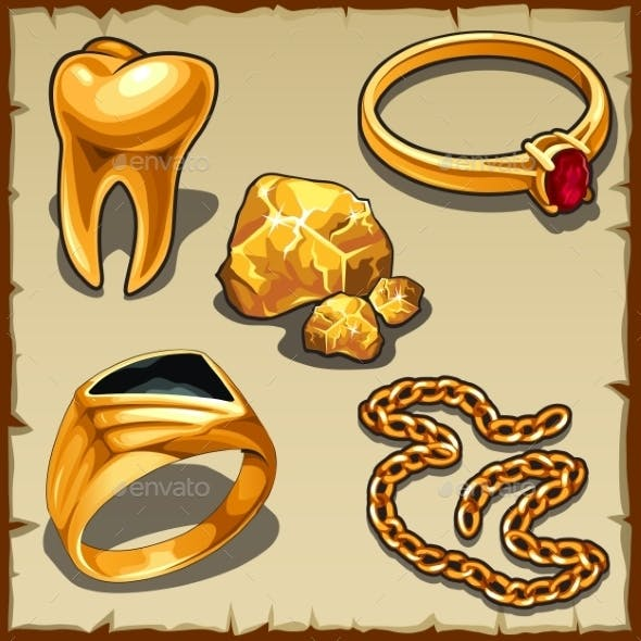 Royal Treasure Of Gold, Jewelry And Tooth