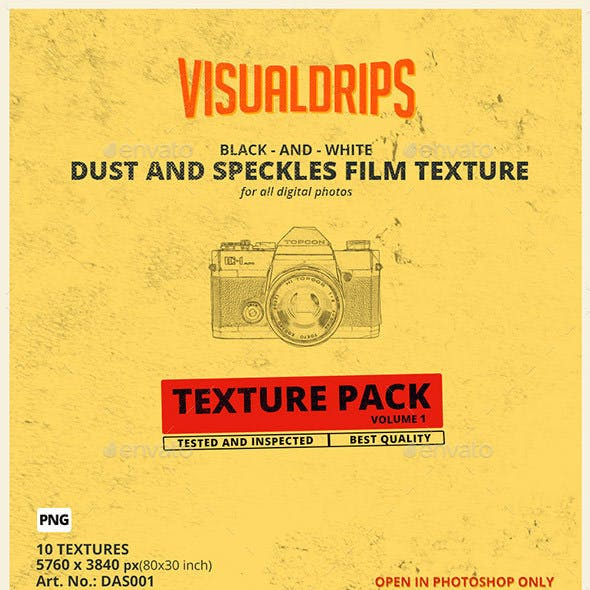 Film Dust and Speckles Overlays Vol.1