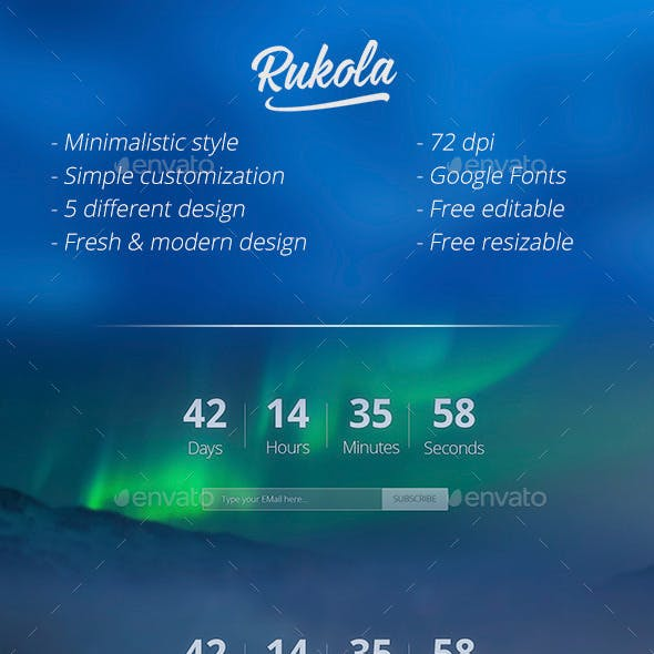 Rukola - Coming Soon Page