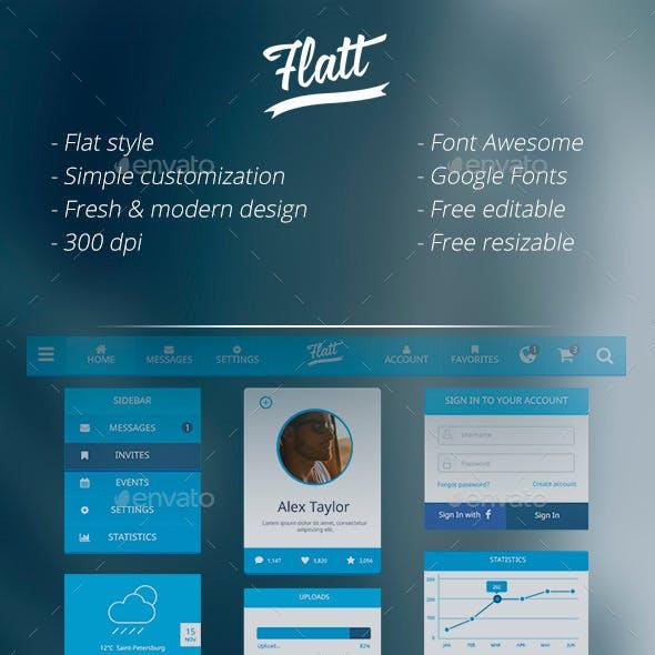 Flatt - Clean & Minimal UI Pack