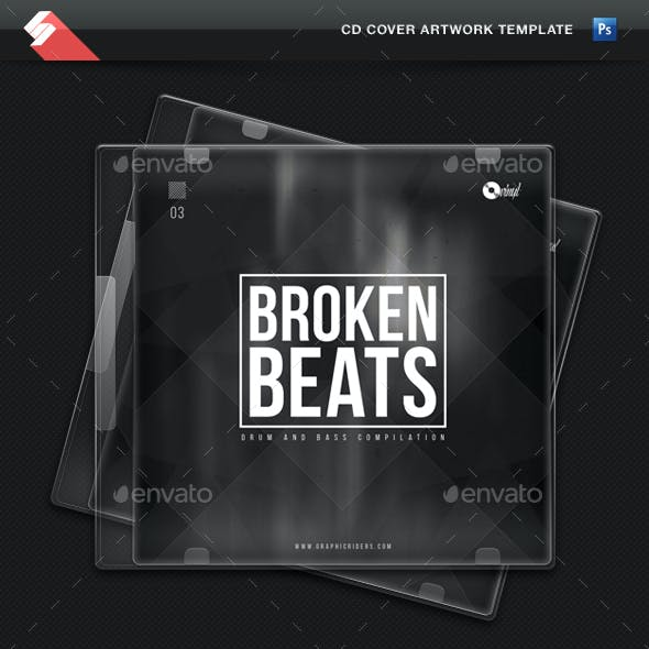 Broken Beats vol3 - CD Cover Artwork Template