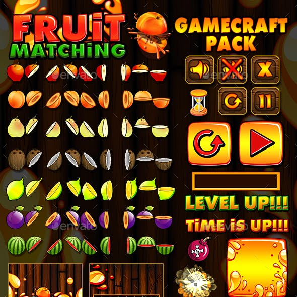 Fruit Matching Game Assets