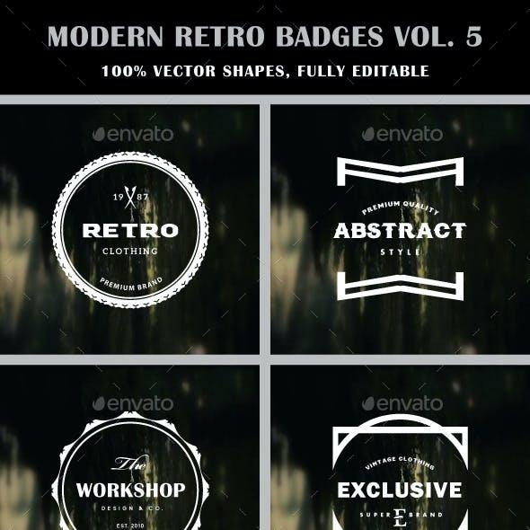 Modern Retro Badges Vol. 5
