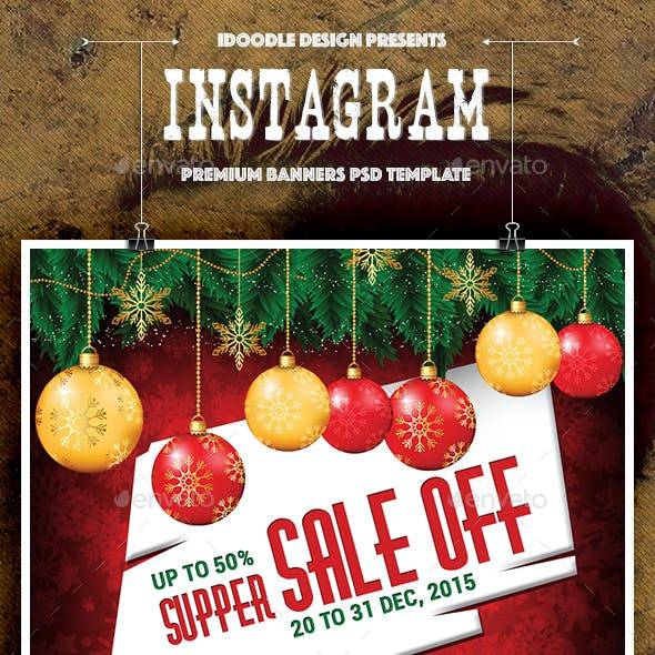 Christmas Instagram Banners Ads